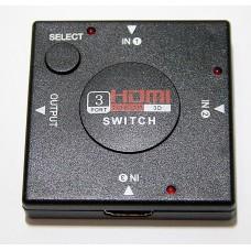 3-х портовый HDMI-переключатель, переключатель HDMI, Splitter HDMI  для HDTV, поддержка 1080P видео