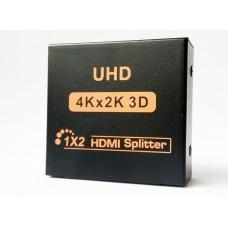 HDMI разветвитель сплиттер 1 х 2 2K 4K 1080P splitter HDMI 1 на 2 выходные порты экрана
