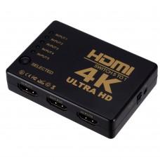 Коммутатор HDMI 4K switch переключатель 5 на в 1 свич сплиттер для монитора ТВ ( HDMI 4K switch 5x1 cable )
