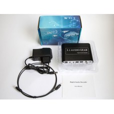 HDA-51A, AC3/DTS Digital Audio Decoder 5.1, оптический аудио декодер,  оптический аудиодекодер