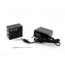 Аудио Конвертер SPDIF Toslink цифрового звука (ЦАП, DAC) с оптики (optical) в аналоговый 2.0 стерео сигнал c блоком питания
