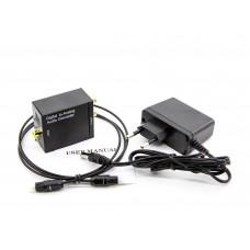 Конвертер Цифро-аналоговый, ЦАП optical Toslink SPDIF Coaxial преобразователь, Audio Converter 2.0, аудиоконвертер 2.0 + оптоволоконный кабель в подарок!