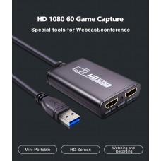 HDMI в USB 3.0 внешняя видео карта видеозахвата c поддержкой YUY2 и микрофонным входом для ноутбука ПК, адаптер оцифровка запись ХДМІ в ЮСБ ( HDMI Video Capture USB3.0 AY02_1 )HDMI в USB 3.0 внешняя видео карта видеозахвата c поддержкой YUY2 и микрофонным