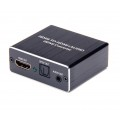 ARC 4K Конвертер - преобразователь экстрактор HDMI 2.0 4K/60Hz декодер цифрового аудио звука в оптический SPDIF + цифро-аналоговый декодер на тюльпаны digital audio RCA