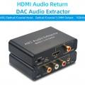 Адаптер HDMI ARC - Optical - Coaxial преобразователь экстрактор конвертер аудио звука в 5.1 Toslink / Коаксиальный + Аналоговый  стерео 2.0 RCA тюльпаны / мини джек 3.5 мм