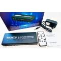 4х портовый коммутатор HDMI V2.0 / UHD Audio Extractor 4K / 60Gh Переключатель ARC DTS Dolby 5.1CH / PASS / 2CH