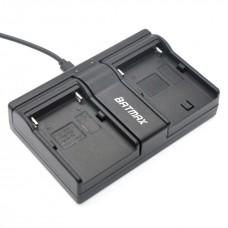 Для Sony NP-F550/750/960 - Двойное USB цифровое аккумуляторное зарядное устройство