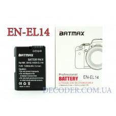 Batmax (Nikon) EN-EL14 / EN-EL14a,1200mA Аккумуляторная батарея для цифровых фото-видеокамер Nikon