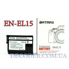 Batmax (Nikon) EN-EL15,1900mA, Аккумуляторная батарея для цифровых фото-видеокамер Nikon