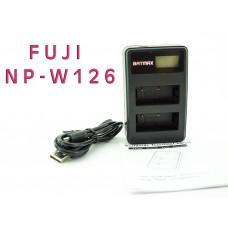 Для Fuji Fujifilm NP-W126 - Двойное USB цифровое аккумуляторное зарядное устройство