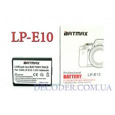 Batmax (Canon) LP-E10, 1500mA, Аккумуляторная батарея для цифровых фото-видеокамер Canon
