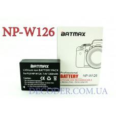 Batmax NP-W126, Аккумуляторная батарея 1260mA для Fujifilm X-E1 XE1 X-E2 xe2 X-A1 X-M1 x-m2 x-t1 XT1 X-Pro1 XPro1 HS33 hs30 hs50 EXR