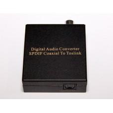 Конвертер - преобразователь цифрового SPDIF аудио сигнала из коаксиального в оптический