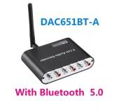 ЦАП Bluetooth 5.1 аудиодекодер конвертер оптический SPDIF коаксиальный Dolby AC3 DTS цифрового аудио звука в аналоговый 6 RCA з Блютуз