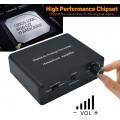 Конвертер - декодер звука с цифрового (ЦАП Digital to Analog optical Toslink S/PDIF оптического ) в аналоговый 2.0 стерео c регулятором громкости ( GV-CA1102 )