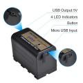 Аккумулятор батарея DuraPro с USB зарядкой для SONY NP-F750 / NP-F770 для видео света смартфона, 5200 мАч