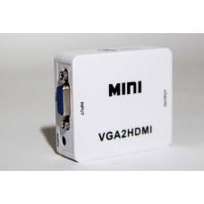 Конвертер VGA + Audio на HDMI 1080p Converter, Конвертер VGA на HDMI + аудио, 1080P, VGA2HDMI, PC, laptop, HDTV проектора