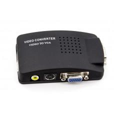 Конвертер  Video на VGA,  Преобразователь видео S-video на VGA