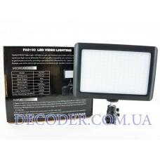 Накамерный видеосвет Wansen Pad 192 LED Video Light фото свет видео с регулятором цветовой температури